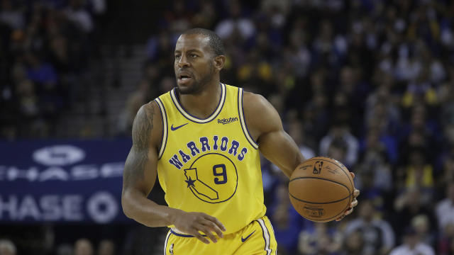 Andre Iguodala delivered a message Knicks fans won't want to hear. (AP Photo/Jeff Chiu)