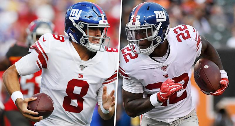 Daniel Jones and Wayne Gallman are both great fantasy starts in a favorable Week 4 matchup against Washington. (Getty Images)