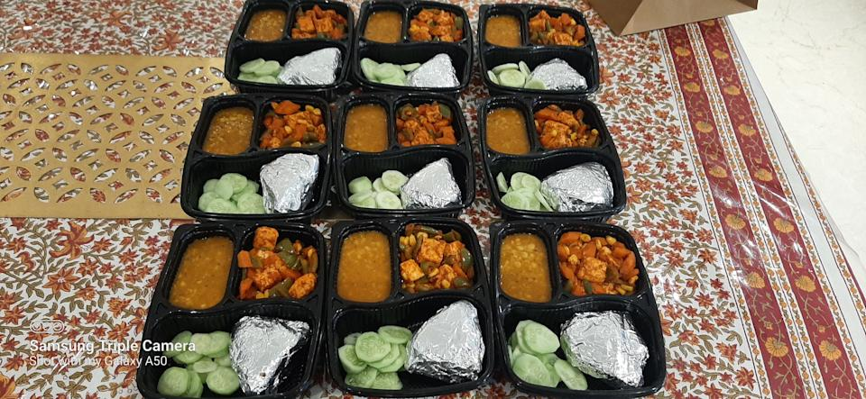 Home-cooked meals freshly packed for delivery by Sujata Rampuria