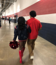 """<p>Ervin was on hand to support Biles as she was named the first ever <a rel=""""nofollow noopener"""" href=""""http://olympics.nbcsports.com/2017/12/10/simone-biles-becomes-honorary-houston-texans-cheerleader/"""" target=""""_blank"""" data-ylk=""""slk:honorary cheerleader"""" class=""""link rapid-noclick-resp"""">honorary cheerleader</a> for the NFL's Houston Texans. He was <a rel=""""nofollow noopener"""" href=""""https://www.instagram.com/p/BcicDkalB4T/?hl=en&taken-by=staceyervinjr"""" target=""""_blank"""" data-ylk=""""slk:really proud"""" class=""""link rapid-noclick-resp"""">really proud</a>. (Photo: <a rel=""""nofollow noopener"""" href=""""https://www.instagram.com/p/Bcis5luloCU/?hl=en&taken-by=simonebiles"""" target=""""_blank"""" data-ylk=""""slk:Simone Biles via Instagram"""" class=""""link rapid-noclick-resp"""">Simone Biles via Instagram</a>) </p>"""