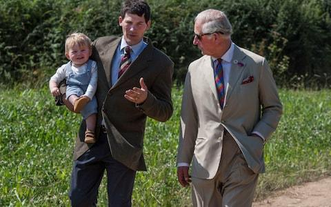 Prince Charles takes a walk through the Duchy with one of his tenants during the two-part ITV documentary