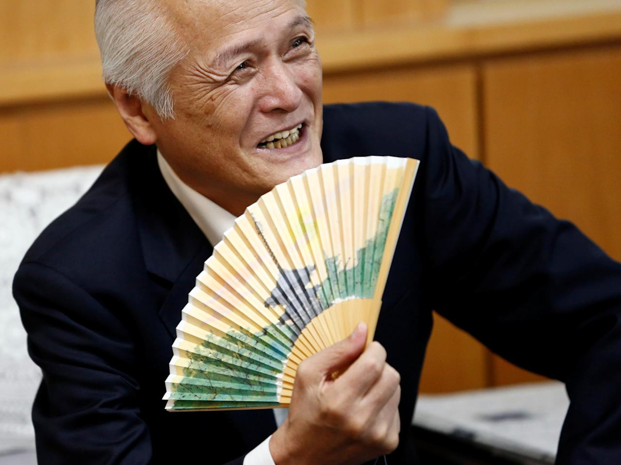 Japan's Environment Minister Koichi Yamamoto speaks during an interview with Reuters in Tokyo, Japan June 29, 2017. REUTERS/Kim Kyung-Hoon