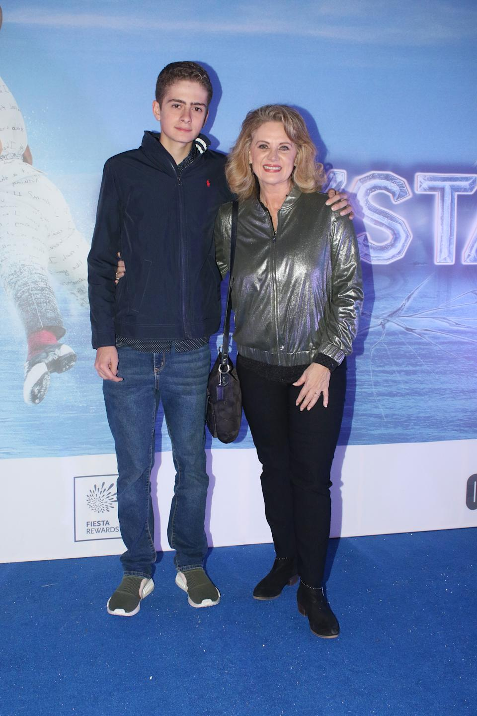 MEXICO CITY, MEXICO - OCTOBER 04: Nicolas Buenfil and Erika Buenfil pose for photos at the red carpet before the Cirque Du Soleil show 'CRYSTAL' at Palacio de Los Deportes on October 4, 2019 in Mexico City, Mexico.  (Photo by Adrián Monroy/Medios y Media/Getty Images)
