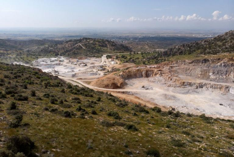 The quarry extraction process often comes with deforestation, air pollution and disruption of traditional human activities (AFP Photo/EMILY IRVING-SWIFT)