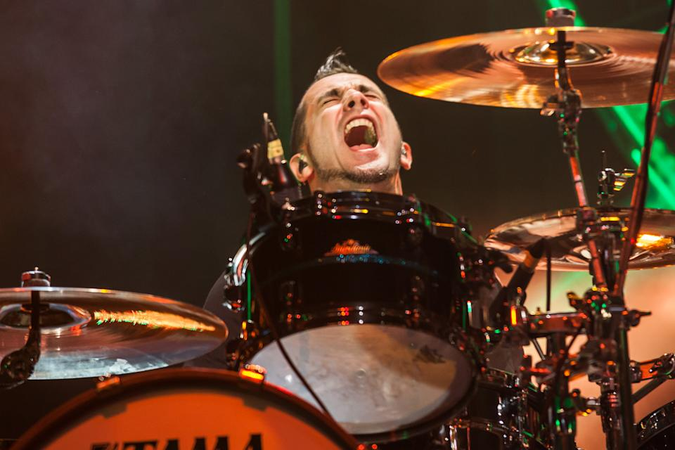 Offspring drummer Pete Parada will not tour with the band because of his vaccine hesitancy. (Photo by Chelsea Lauren/WireImage)