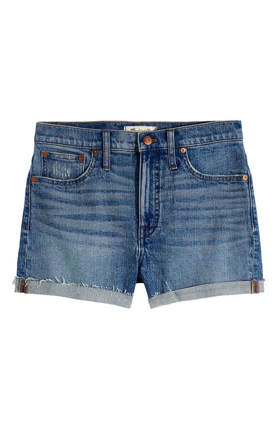 Madewell High Waist Denim Shorts. Image via Nordstrom.