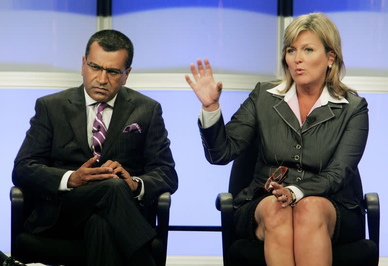 FILE PHOTO: ABC news anchors Bashir and McFadden take part in a panel discussion at the ABC television network Summer press tour for television critics in Beverly Hills