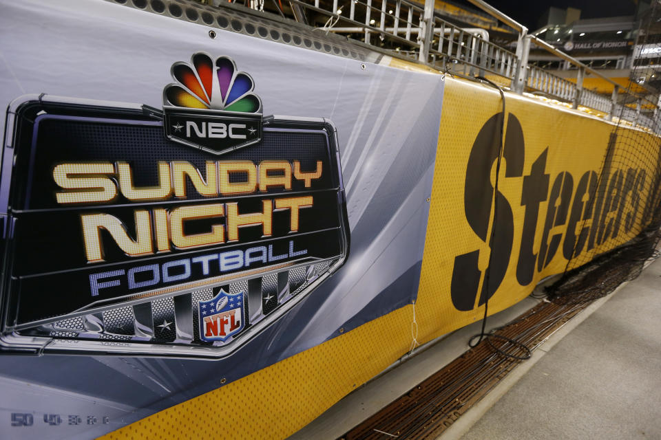 """NBC's """"Sunday Night Football"""" was the most-watched show in primetime for a record seventh-straight year. (AP)"""