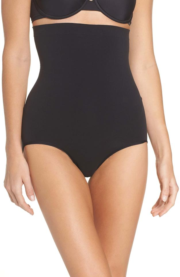 """<p><strong>SPANX</strong></p><p>nordstrom.com</p><p><strong>$24.90</strong></p><p><a href=""""https://go.redirectingat.com?id=74968X1596630&url=https%3A%2F%2Fshop.nordstrom.com%2Fs%2Fspanx-higher-power-shaper-panties-regular-plus-size%2F3993042&sref=http%3A%2F%2Fwww.prevention.com%2Fbeauty%2Fstyle%2Fg28425266%2Fnordstrom-early-access-anniversary-sale-shapewear-bras%2F"""" target=""""_blank"""">Shop Now</a></p><p>If you want less constriction in the thighs but max compression around your stomach area, this is your go-to. </p>"""