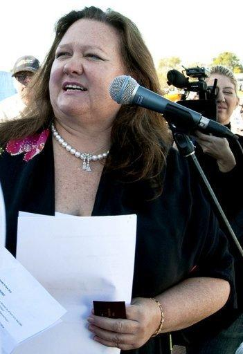 Gina Rinehart increased her holding from 12.58% to 18.67%, according to a regulatory filing