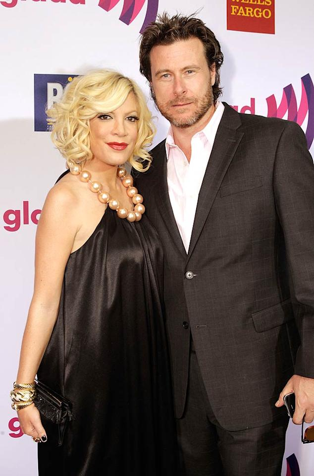 "Reality couple Tori Spelling and Dean McDermott also showed up for the awards gala, which honors media that accurately represent the lesbian, gay, bisexual, and transgender community. Jeff Vespa/<a href=""http://www.wireimage.com"" target=""new"">WireImage.com</a> - April 10, 2011"