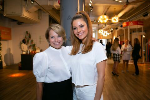 Katie Couric and Maria Menounos Promote Healthy Living at Rally Health's Pop-up Event in New York City