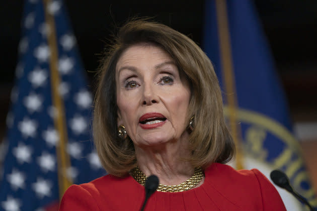 Speaker of the House Nancy Pelosi, seen on Thursday, has said that the Mueller report proved Trump