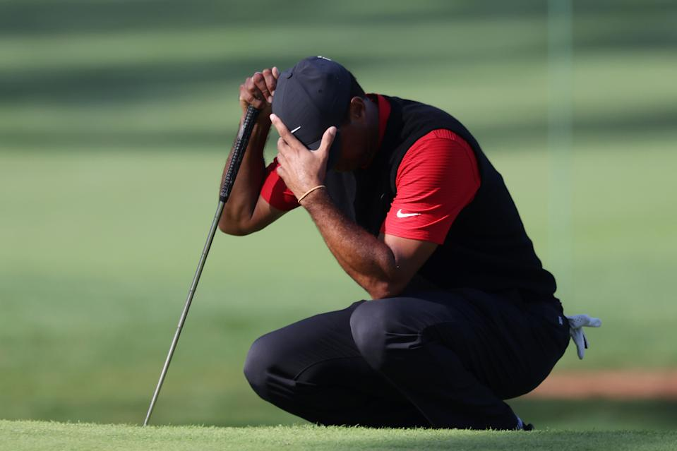 Tiger Woods had a rough Sunday. (Photo by Rob Carr/Getty Images)