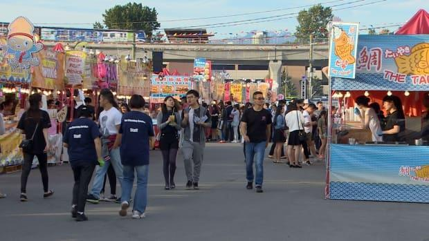 Hundreds of people packed the Richmond Night Market on a Friday evening in 2016.