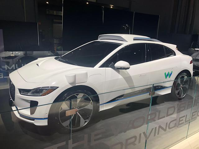 Jaguar I-PACE Waymo self-driving model (Credit: Pras Subramanian)