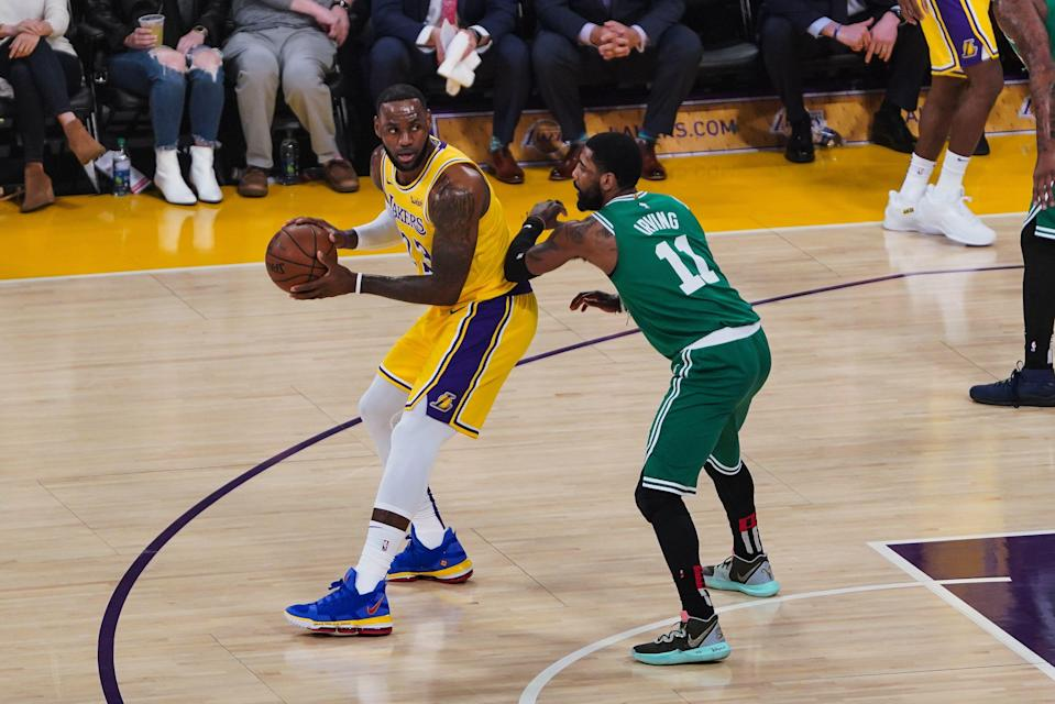 Kyrie Irving says it wasn't easy playing in LeBron James' shadow. (Getty Images)