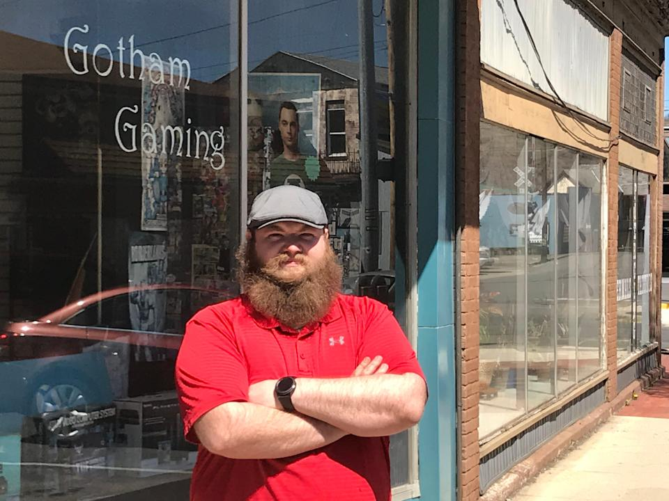 Floyd Moore, owner of Gotham Gaming in Keyser, West Virginia, said raising the federal minimum wage from $7.25 to $15 would force his store and many other small businesses to close.