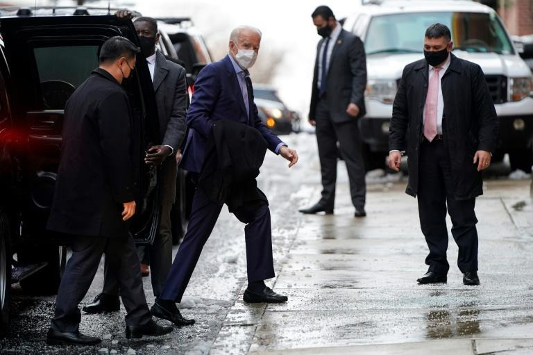 China has voiced hope of improving relations with the United States under President-elect Joe Biden, seen arriving for an appearance in his home city of Wilmington, Delaware on December 17, 2020