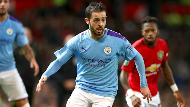 Manchester City cruised to a 3-1 win over Manchester United, who Bernardo Silva says were lucky to only concede three in the first half.