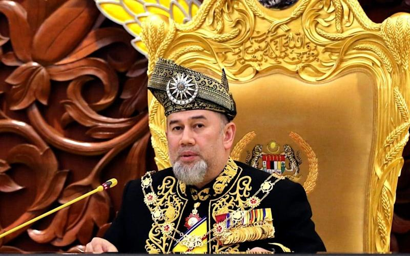 File image of Malaysia King Sultan Muhammad V, who has unexpectedly stood down - AP