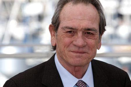 "Director and actor Tommy Lee Jones poses during a photocall for the film ""The Homesman"" in competition at the 67th Cannes Film Festival in Cannes May 18, 2014. REUTERS/Benoit Tessier"