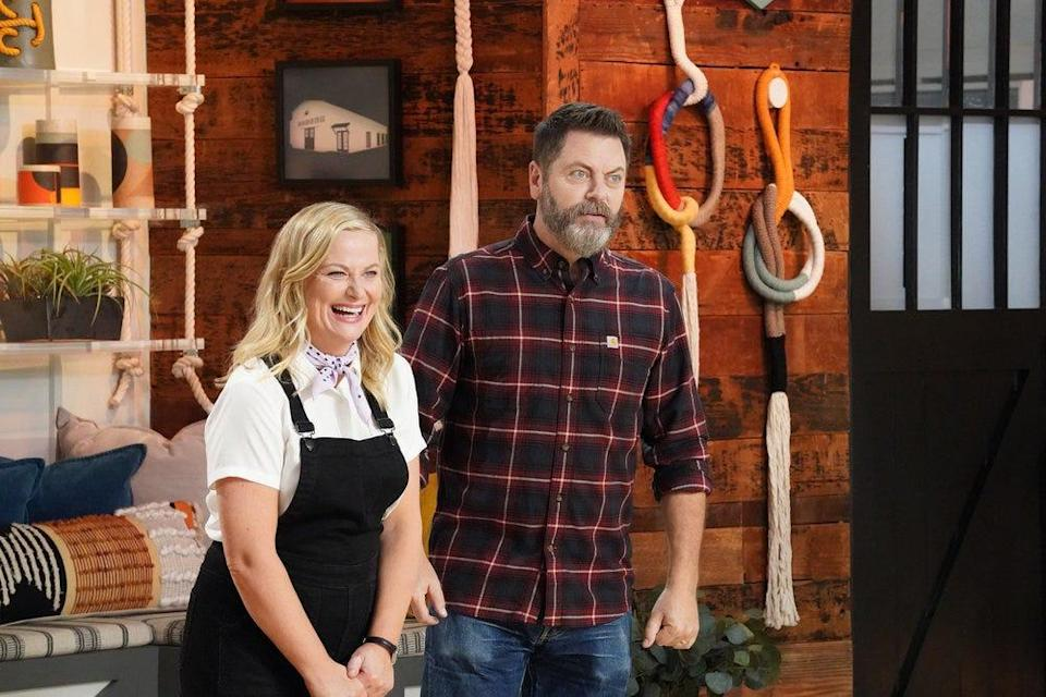"""Amy Poehler and Nick Offerman hosting """"Making It."""""""