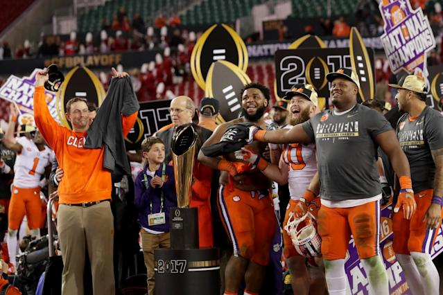 What bowl game will Clemson go to after the 2017 season? (Getty)