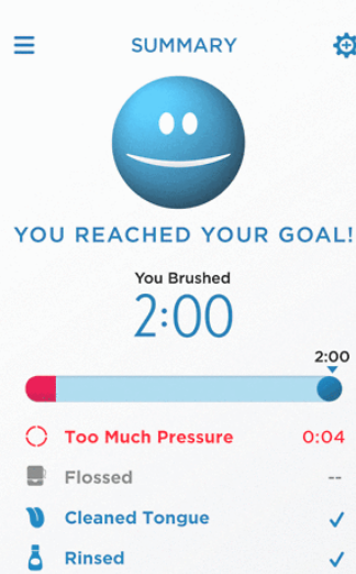 Toothbrush app summary report