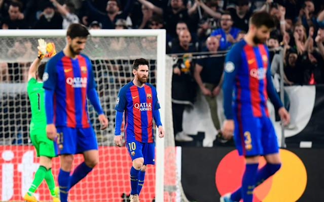 <span>Barcelona are 3-0 down from their first leg against Juventus </span> <span>Credit: AFP  </span>