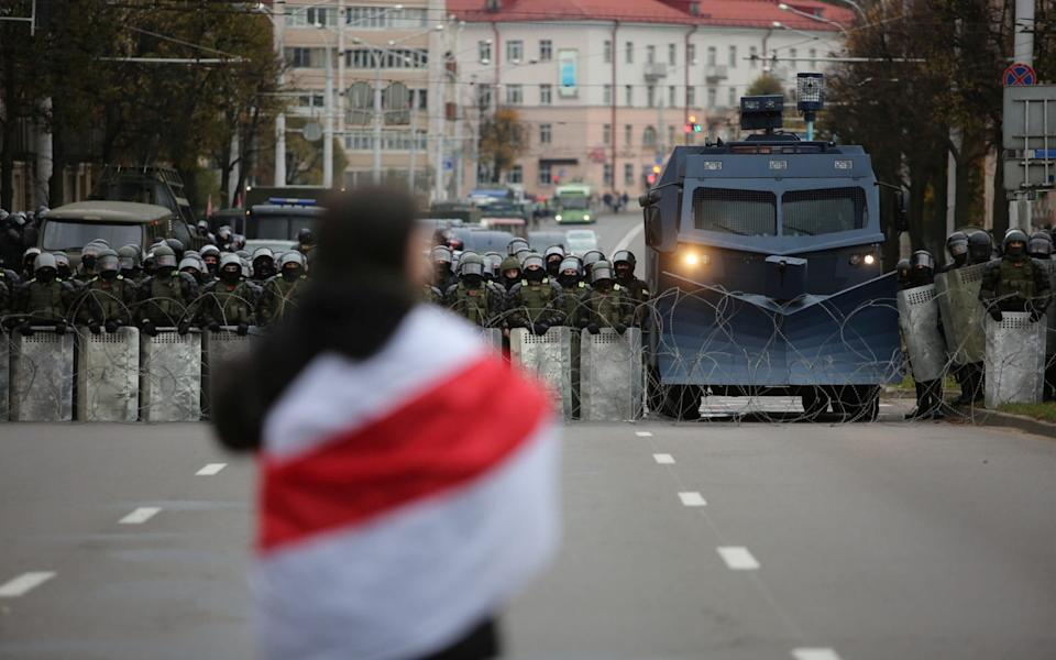 Protests in Belarus erupted in August after Alexander Lukashenko's dubious win in the presidential elections - Stringer/Reuters