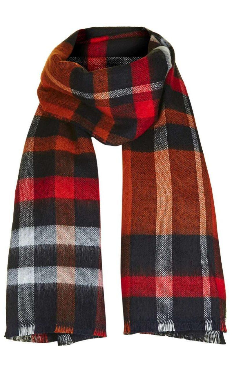 <p>Tartan's back with a bang this year so celebrate the return of the trend with this check print scarf. </p>