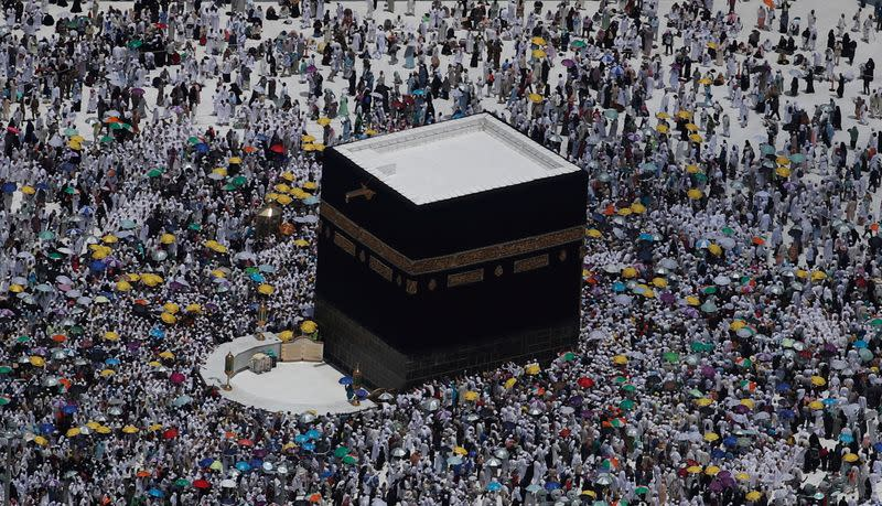 FILE PHOTO: An aerial view of Kaaba at the Grand mosque in the holy city of Mecca
