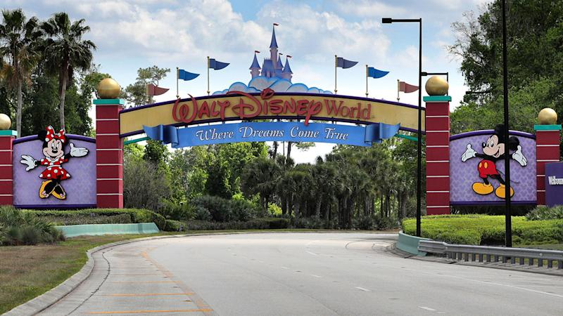An outside look at Disney World, where the NBA season will be restarted.