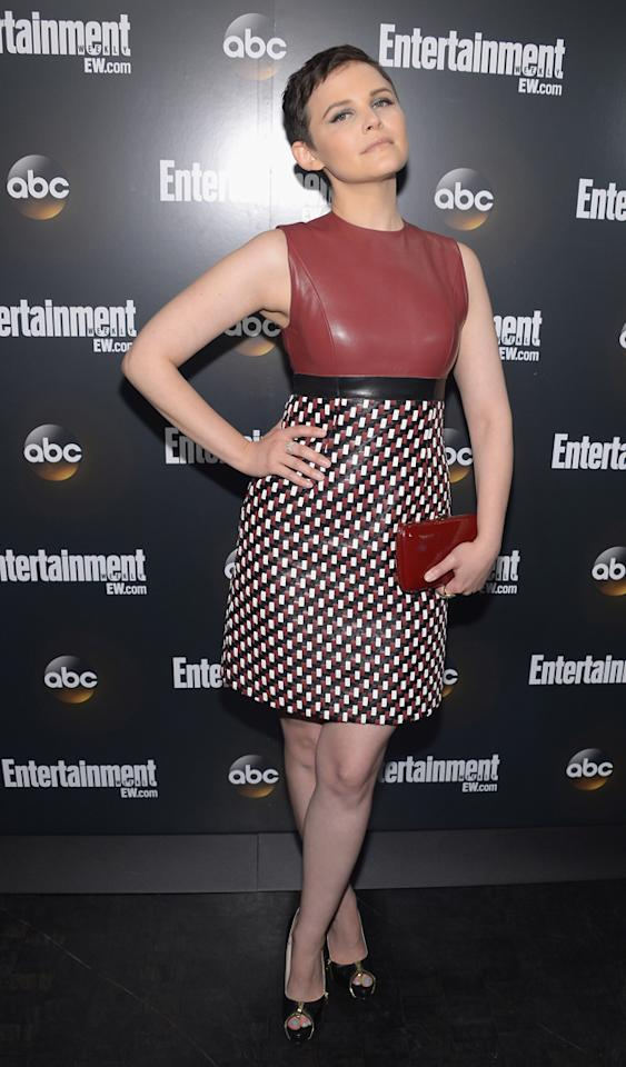 "Ginnifer Goodwin (""Once Upon a Time"") attends the Entertainment Weekly and ABC Upfront VIP Party at Dream Downtown on May 15, 2012 in New York City."