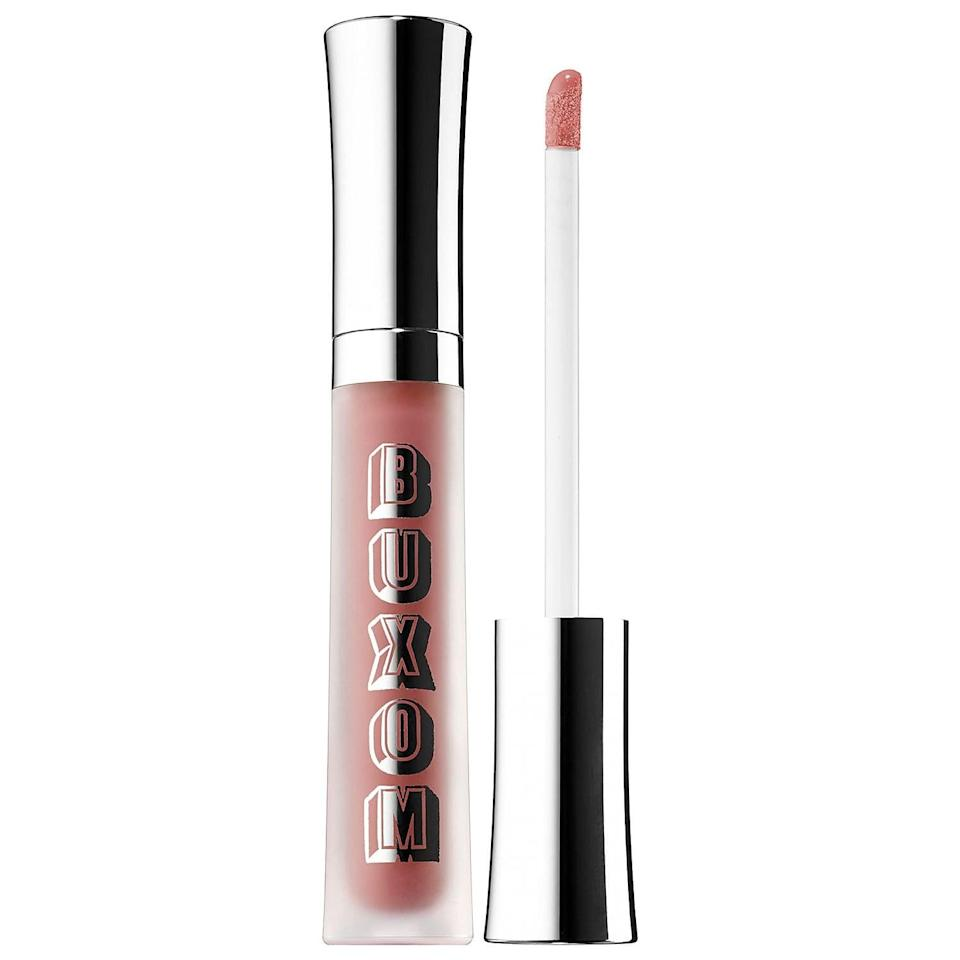 <p>Coat your lips in <span>Buxom Full-On Plumping Lip Cream Gloss</span> ($21) for color, shine, and volume.</p>