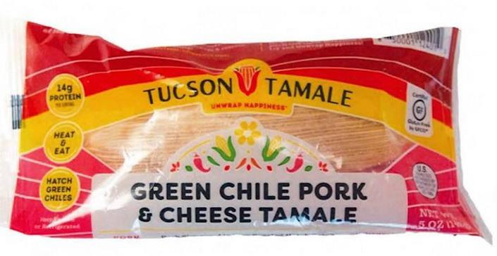 Tucscon Tamale Green Chile Pork & Cheese Tamale