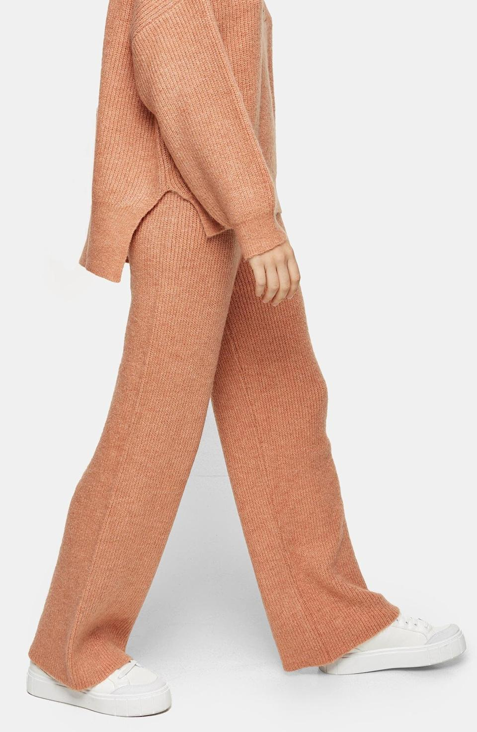 <p>Weekends will be spent in these <span>Topshop Henley Wide Leg Pants</span> ($68).</p>
