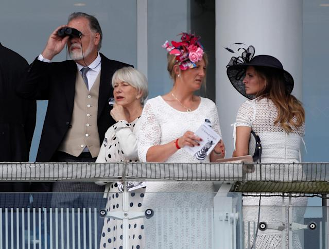 Horse Racing - Derby Festival - Epsom Downs Racecourse, Epsom, Britain - June 2, 2018 Actress Helen Mirren during Derby Festival REUTERS/Peter Nicholls