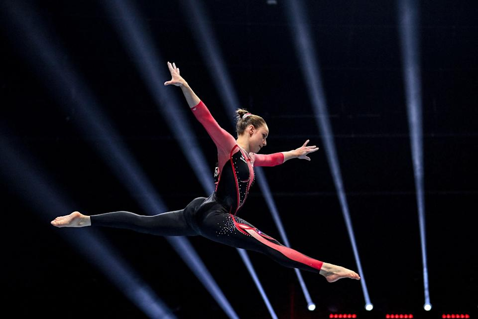 Germany's Sarah Voss in a full-length unitard (AFP/Getty)