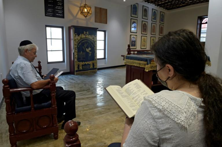 Bahrain has a tiny Jewish community of around 50 people who practiced their faith behind closed doors since 1947 (AFP/Mazen Mahdi)