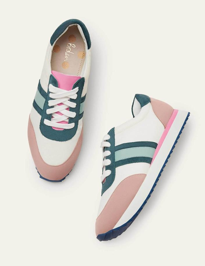 <p>We love the color scheme of these <span>Boden May EVA Sneakers</span> ($130).</p>