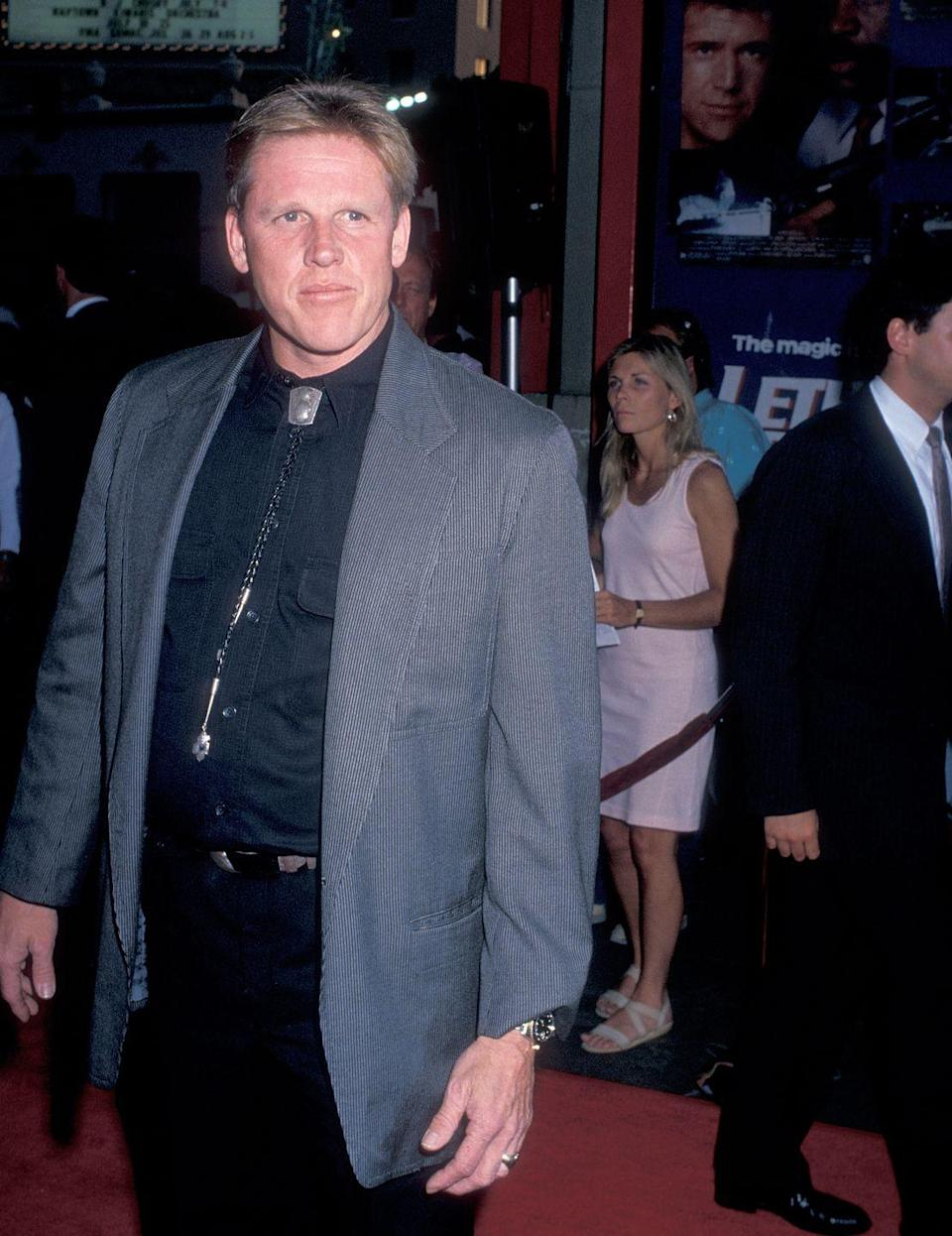 "<p>In 1988, Busey went out on his motorcycle without a helmet and got into a crash. In an essay for <a href=""https://people.com/archive/a-near-fatal-motorcycle-crash-changes-an-actors-life-but-not-his-refusal-to-wear-a-helmet-vol-31-no-19/"" rel=""nofollow noopener"" target=""_blank"" data-ylk=""slk:PEOPLE"" class=""link rapid-noclick-resp"">PEOPLE</a>, Busey said he didn't recall the first six weeks after the accident due to post-traumatic amnesia: ""People have told me I was angry that I was in the hospital and didn't want the nurses touching me,"" he wrote. ""The doctors wound up isolating me in a psychiatric ward and giving me three types of medication to calm me.""</p>"