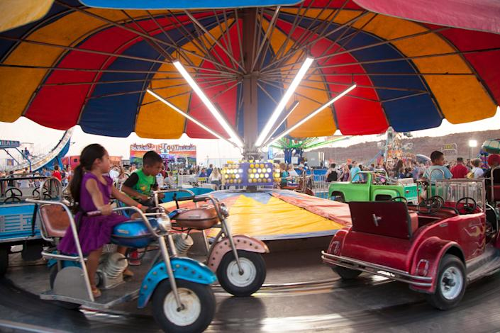 People attend the 2018 Washington County Fair August 8-11, 2018.