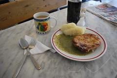 Pie, mash and liquor on the side