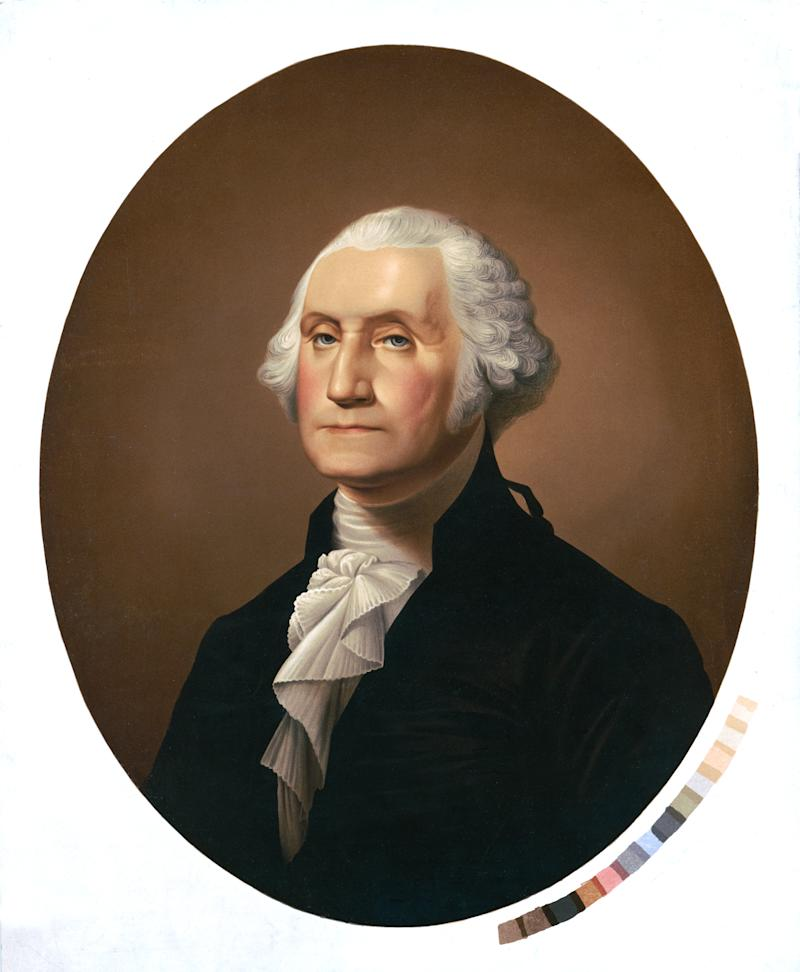 Vintage portrait of George Washington (1732-1799), an American political leader, military general, statesman, and Founding Father who served as the first president of the United States from 1789 to 1797.