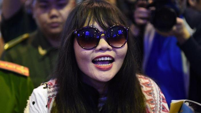 Doan Thi Huong following her release from prison