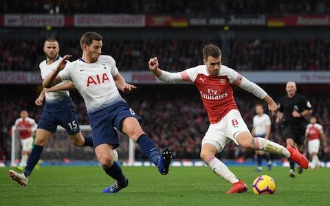 <span>Ramsey was impressive when he came on in the north London derby</span> <span>Credit:  Getty Images </span>