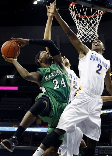 Marshall outlasts Tulsa 105-100 in 3 OT