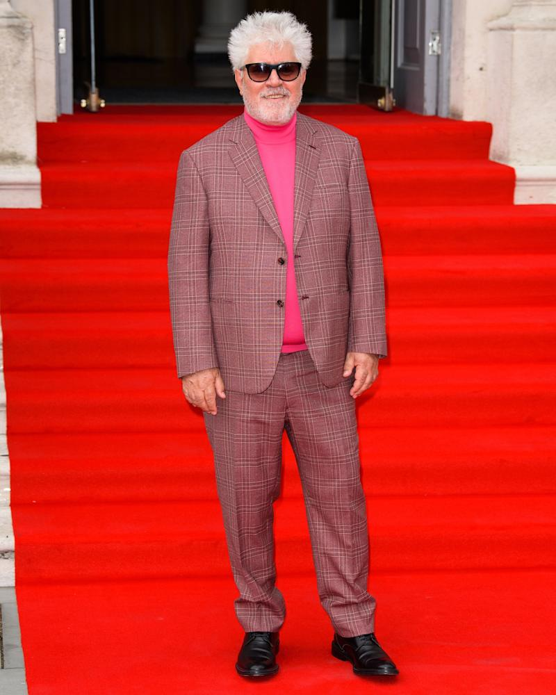 Legendary director Pedro Almodóvar is also an expert at wearing really fun suits.